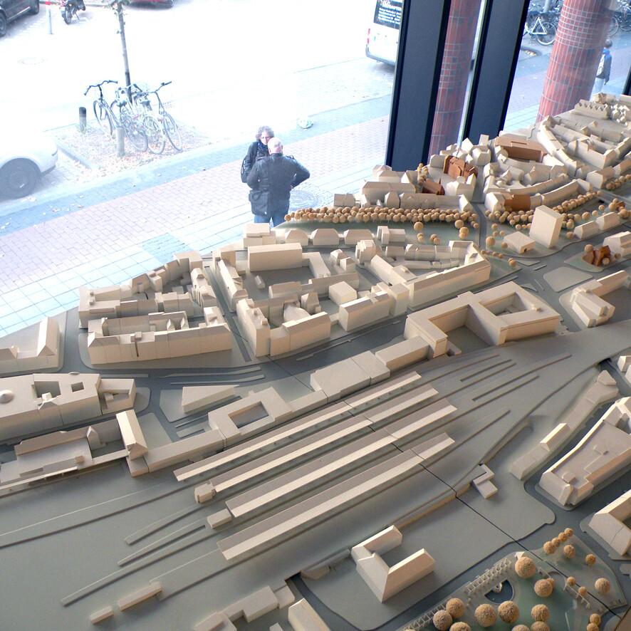 Münster Modell: Ausstellung Nr. 16 - Ehem. Bahnhofsdirektion, 2013 - Foto: Stefan Rethfeld