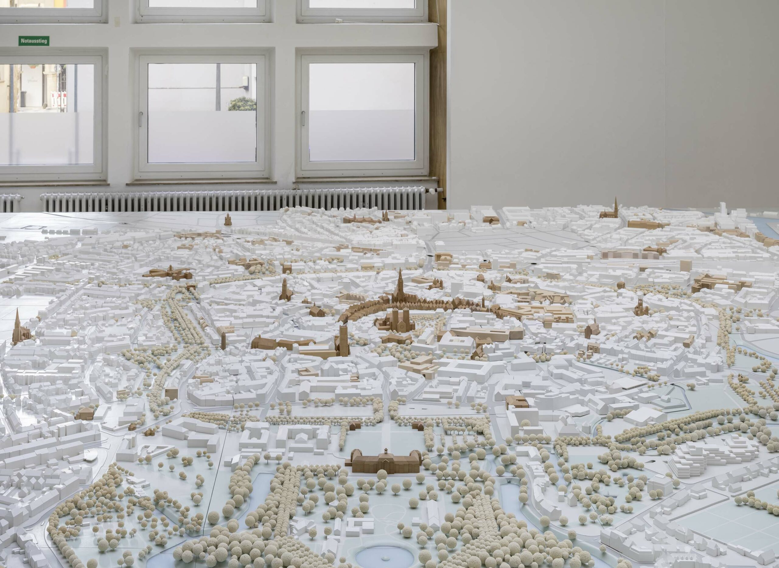 Münster Modell: Ausstellung Nr. 22 - Stadthaussaal, 2018 - Foto: Roland Borgmann