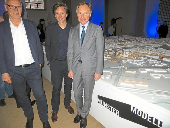 Münster Modell: Jubiläum 2016 - Dominikanerkirche - Christian Schowe, Stefan Rethfeld, Rainer Nagel (Bundesstiftung Baukultur) - Foto: WN
