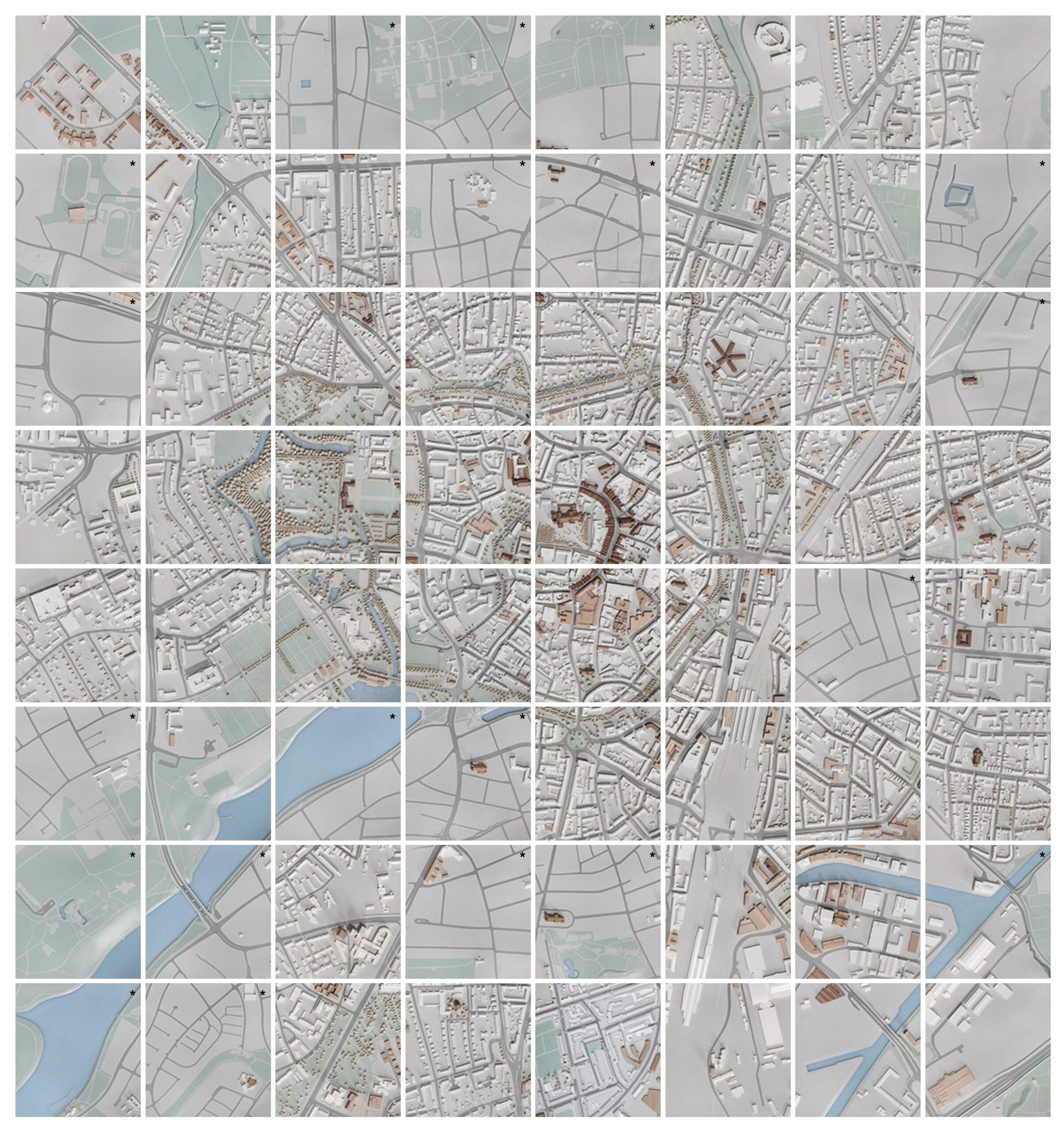 Münster Modell: Innenstadt im Maßstab 1:500 - Kernbereich 8 x 8 Meter (64 Platten) - Modellfotos: Roland Borgmann