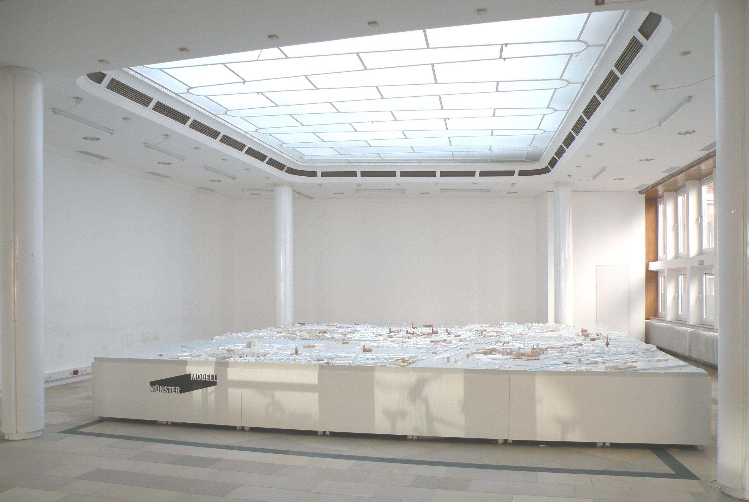 MMünster Modell: Ausstellung Nr. 22 - Stadthaussaal, Rathausinnenhof, 2018