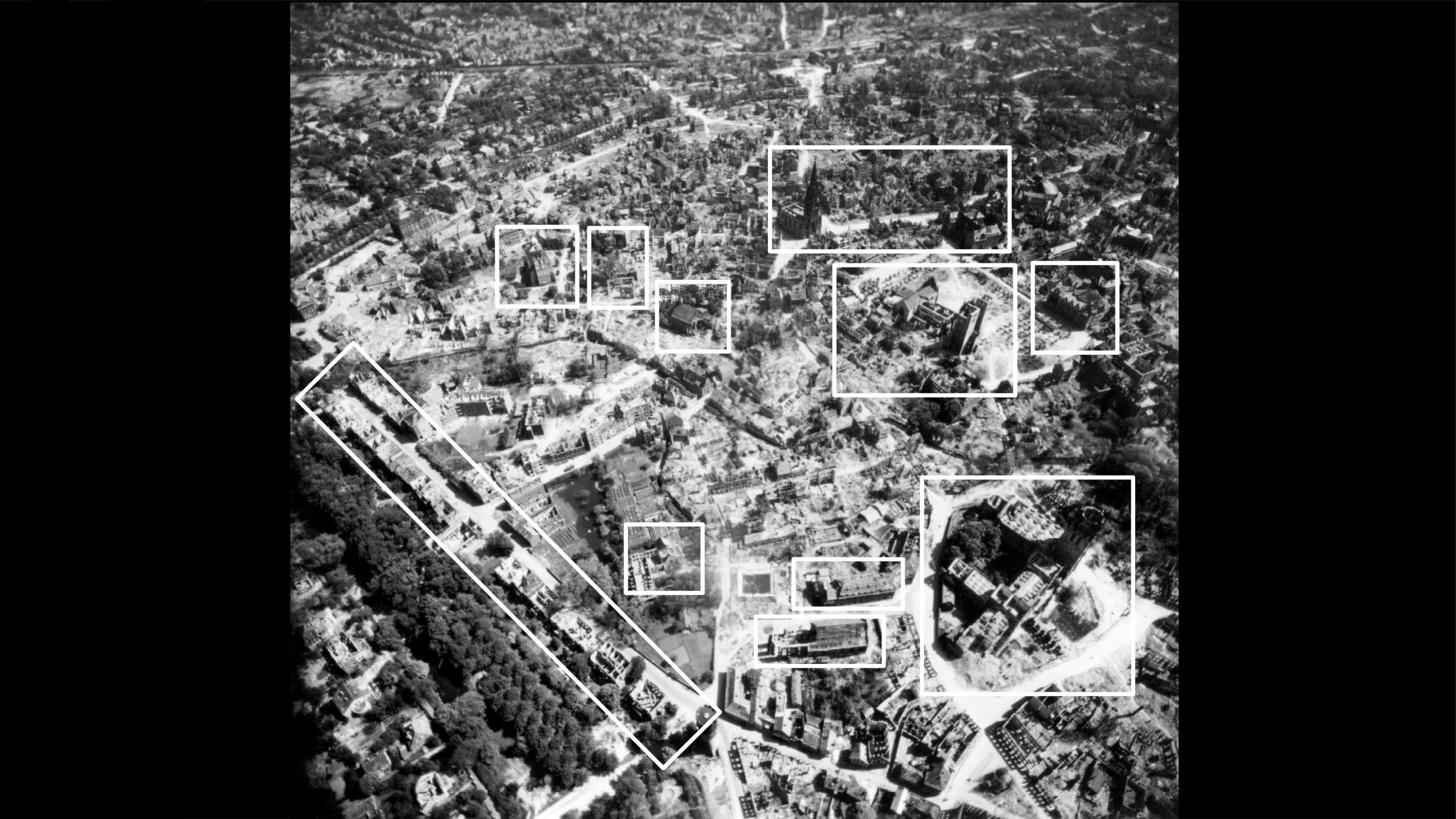 Stadtmuseum Münster: Ausstellung Münster 1945 - Das nördliche Stadtzentrum - Foto: Stadtmuseum Münster / Trolley Mission