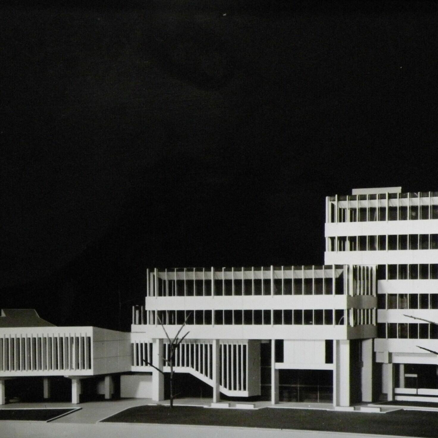 Rathaus Greven (1971-73, Dieter Oesterlen), Modell - Foto: Stefan Rethfeld