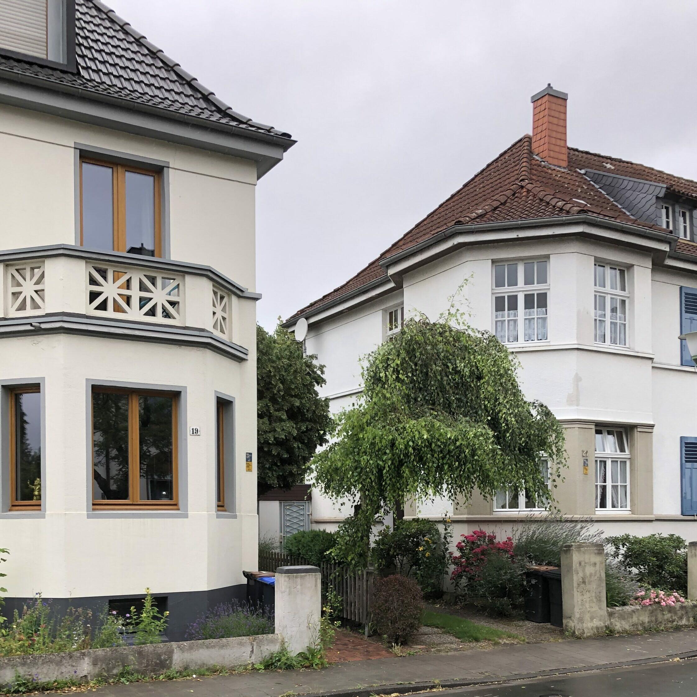 Münster vor Ort: Blitzdorf - Siedlungshäuser an der Rheinstraße - Foto: Stefan Rethfeld