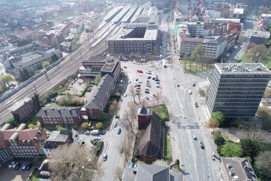 WDR Münster: Neuer Standort am Servatiiplatz, Münster - Foto: Stadt Münster/Vermessungs- und Katasteramt