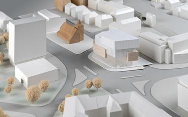 Urbaner Ort / WDR Münster - Entwurf: Behnisch Architekten, Stuttgart (2. Rundgang)