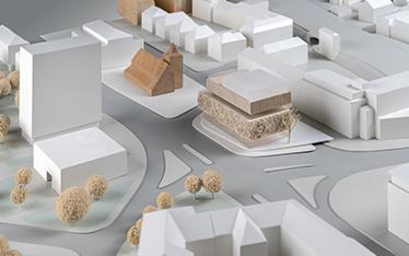 Urbaner Ort / WDR Münster - Entwurf: kbnk Architekten, Hamburg (1. Rundgang)