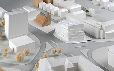 Urbaner Ort / WDR Münster - Entwurf: CROSS Architecture, Aachen (1. Rundgang)