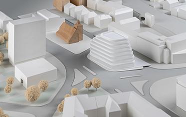 Urbaner Ort / WDR Münster - Entwurf: AllesWirdGut Architektur, Wien/München (1. Rundgang)