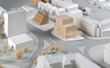 Urbaner Ort / WDR Münster - Entwurf: Kuehn Malvezzi, Berlin (1. Rundgang)