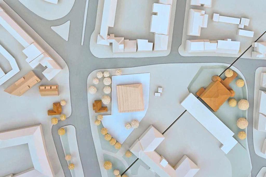 Abbildung: Entwurf WWU Kita am Neutor, Architekten: Burhoff und Burhoff, Einsatz im Münster Modell.