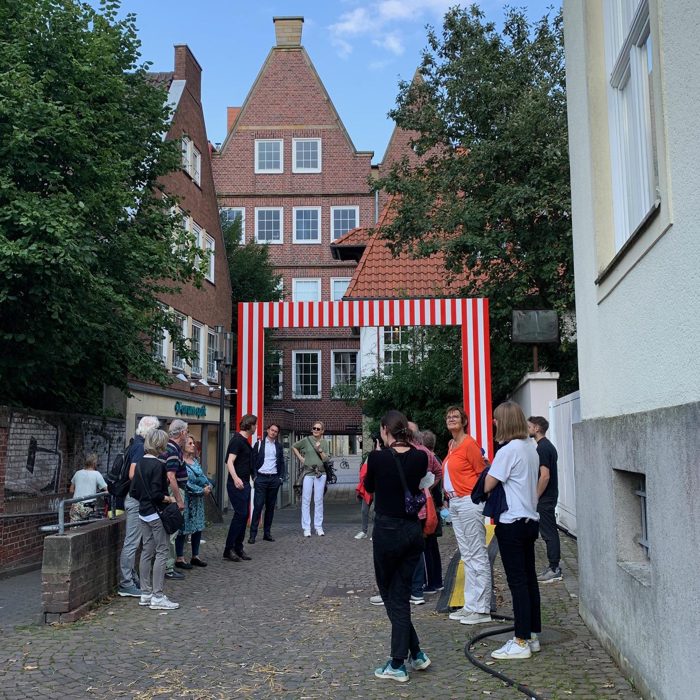 Münster Modell: Rundgang zu verschiedenen Höfen in der Altstadt - Foto: Martin Schmidt
